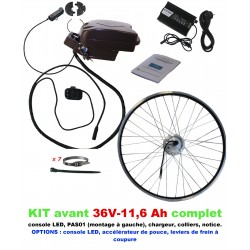 Kit 36V LIGHT AVANT BATTERIE SOUS SELLE 11,6A
