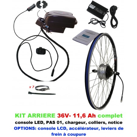 Kit 36V LIGHT ARRIERE BATTERIE SOUS SELLE 11,6A