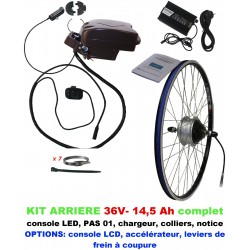 Kit 36V LIGHT ARRIERE BATTERIE SOUS SELLE 14,5A