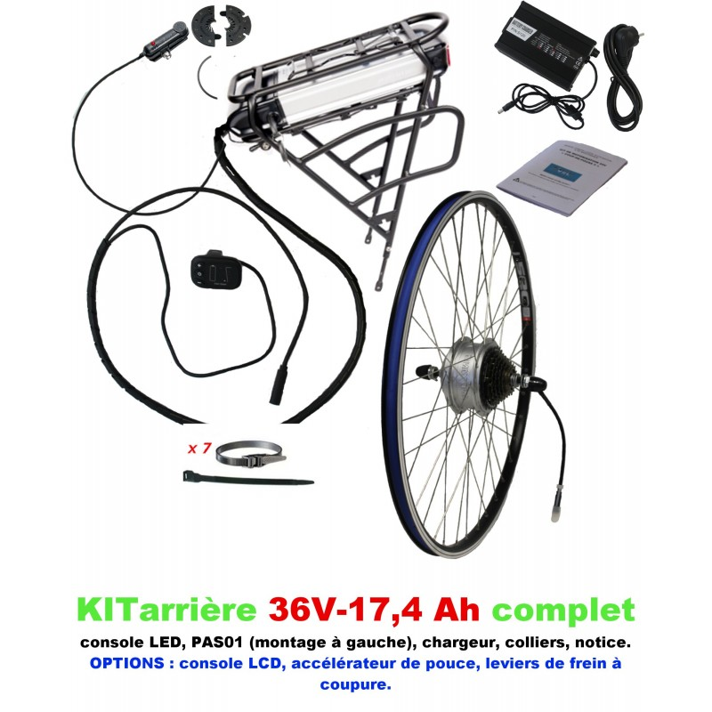 Kit 36V LIGHT ARRIERE BATTERIE PORTE-BAGAGE 17,4A