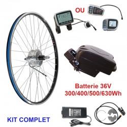 Kit complet arr pour VELO ELECTRIQUE avec batterie sous-selle