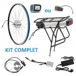 kit complet avant avec batterie porte-bagage pour vélo électrique