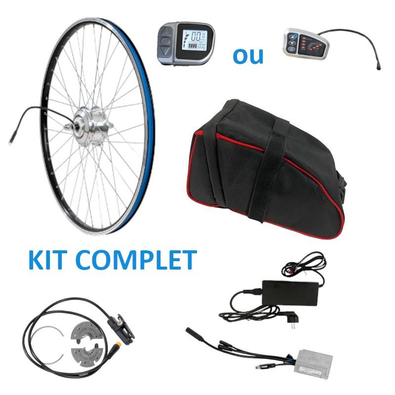 kit complet avant avec batterie sacoche pour kit vélo électrique