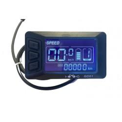 Console LCD GD01 pour kit vélo électrique coup de pouss