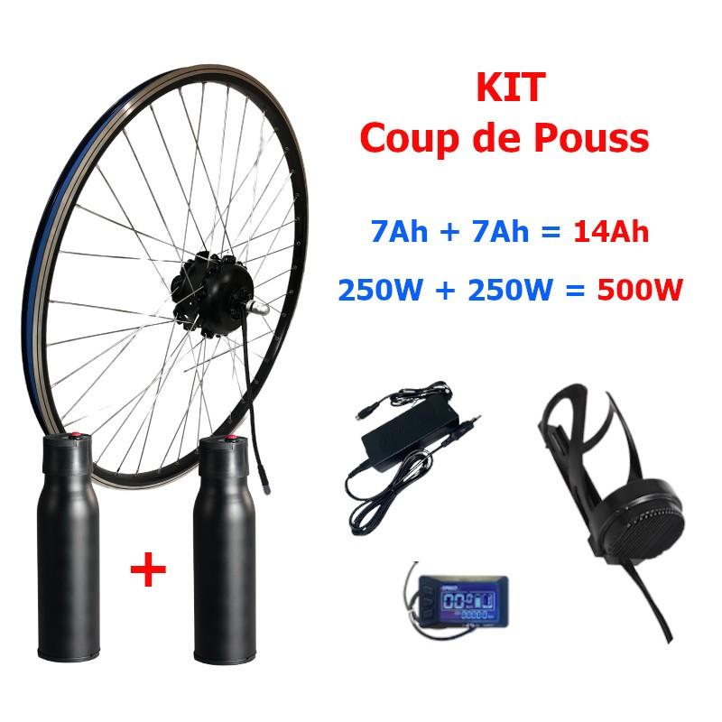 kit coup de pouss promo avec 2 bouteilles pour vélo électrique